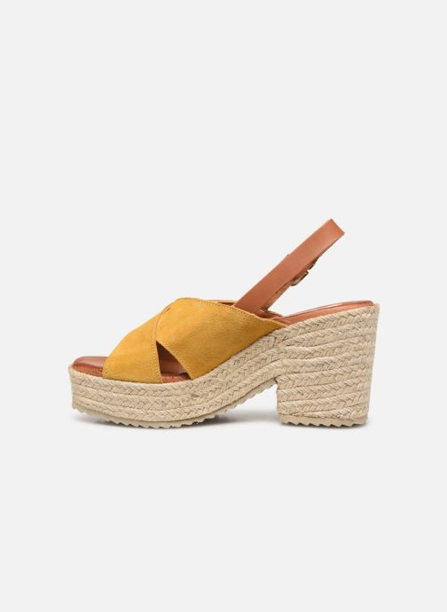 Espadrilles MTNG 58873 Yellow front view