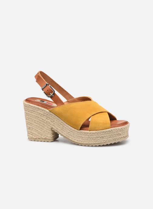 Espadrilles MTNG 58873 Yellow back view