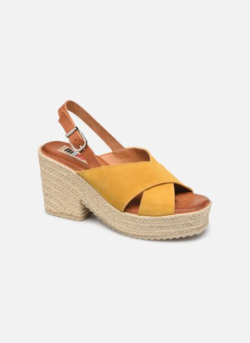 Espadrilles MTNG 58873 Yellow detailed view/ Pair view
