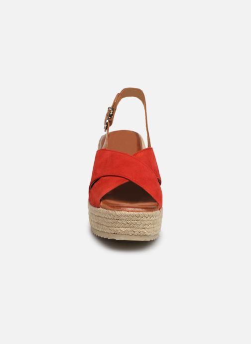 Espadrilles MTNG 58873 Rouge vue portées chaussures