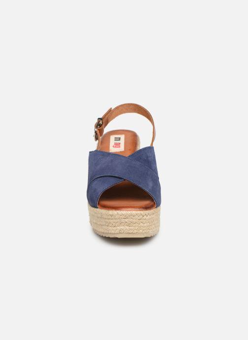 Espadrilles MTNG 58873 Bleu vue portées chaussures