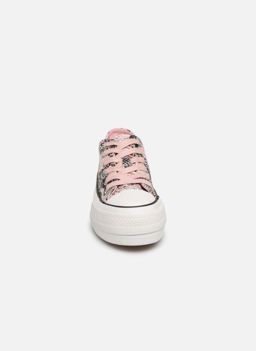 Sneakers MTNG 69589 Rosa modello indossato