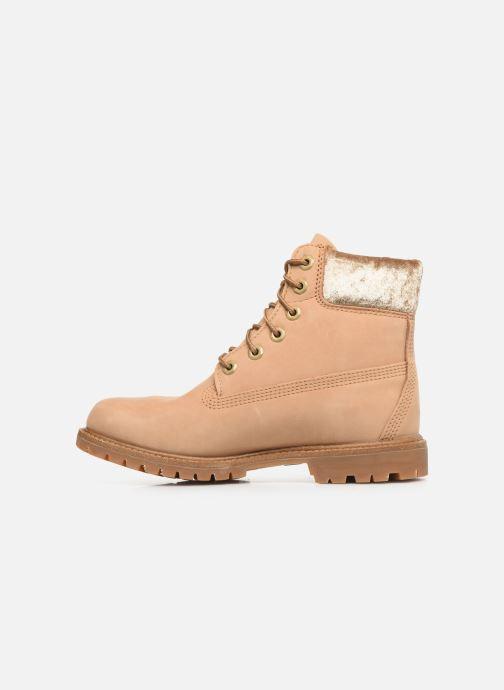 Boots en enkellaarsjes Timberland 6in Premium Boot L/F Beige voorkant