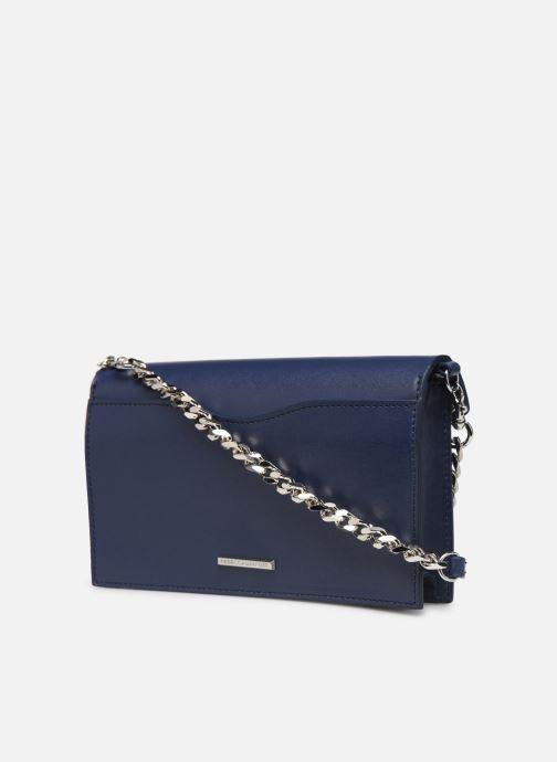Sacs pochettes Rebecca Minkoff Blythe Wallet Xbody Bleu vue droite