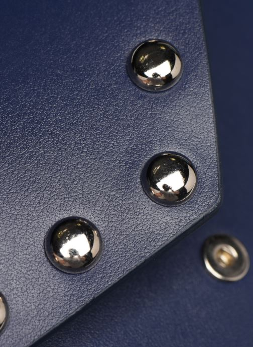 Sacs pochettes Rebecca Minkoff Blythe Wallet Xbody Bleu vue gauche