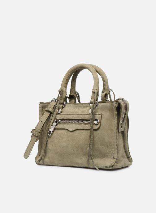 Handbags Rebecca Minkoff Mini Regan Satchel Green model view
