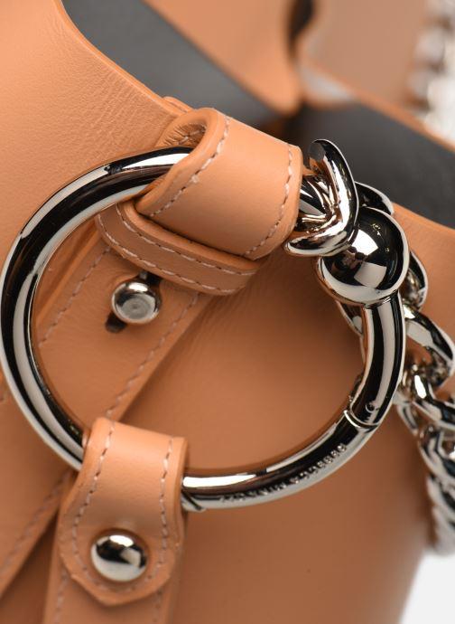 Bolsos de mano Rebecca Minkoff Feedbag W Chain Handle Nappa Marrón vista lateral izquierda