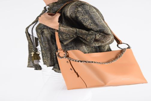 Handbags Rebecca Minkoff Feedbag W Chain Handle Nappa Brown view from underneath / model view