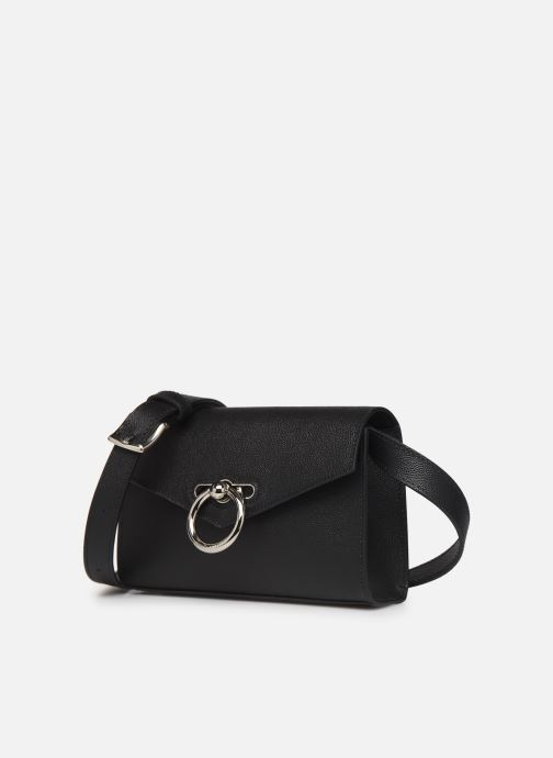 Petite Maroquinerie Rebecca Minkoff Jean Belt Bag Caviar Noir vue portées chaussures