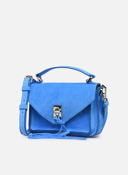 Sacs à main Rebecca Minkoff Mini Darren Fluo Suede Bleu vue portées chaussures