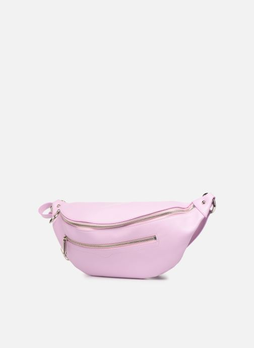 Petite Maroquinerie Rebecca Minkoff New Big Sling Nappa Rose vue portées chaussures