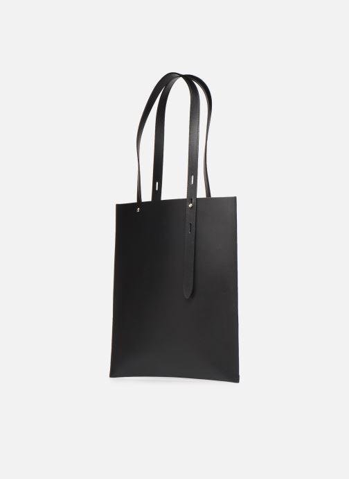 Bolsos de mano Rebecca Minkoff Uri Tote - Flat Pocket Tote Nappa Negro vista del modelo