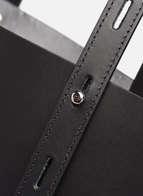 Bolsos de mano Rebecca Minkoff Uri Tote - Flat Pocket Tote Nappa Negro vista lateral izquierda