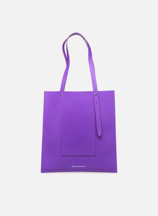 Handtaschen Rebecca Minkoff Uri Tote - Flat Pocket Tote Nappa lila ansicht von vorne