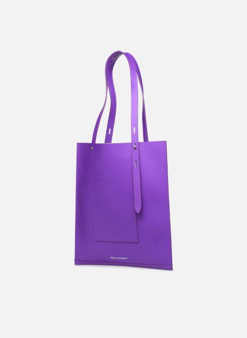 Handtaschen Rebecca Minkoff Uri Tote - Flat Pocket Tote Nappa lila ansicht von rechts