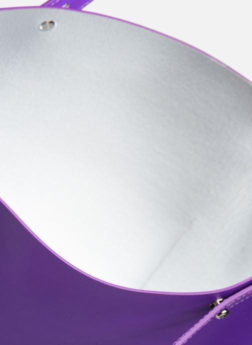 Borse Rebecca Minkoff Uri Tote - Flat Pocket Tote Nappa Viola immagine posteriore