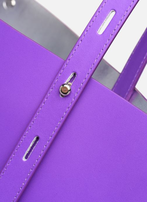 Bolsos de mano Rebecca Minkoff Uri Tote - Flat Pocket Tote Nappa Violeta      vista lateral izquierda