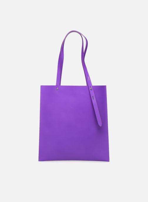 Handtaschen Rebecca Minkoff Uri Tote - Flat Pocket Tote Nappa lila detaillierte ansicht/modell