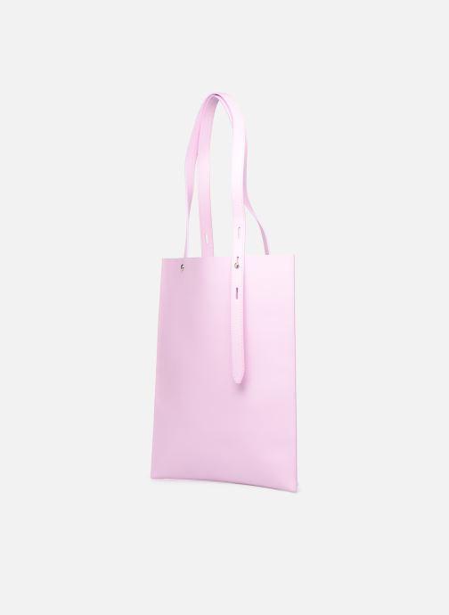 Handtassen Rebecca Minkoff Uri Tote - Flat Pocket Tote Nappa Roze model