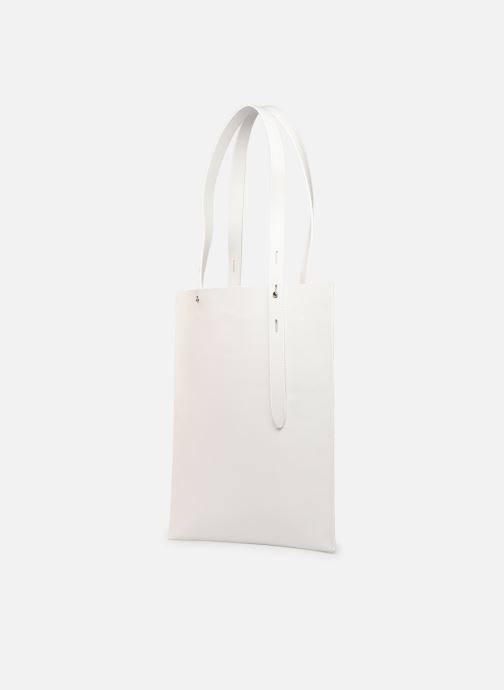 Handbags Rebecca Minkoff Uri Tote - Flat Pocket Tote Nappa White model view