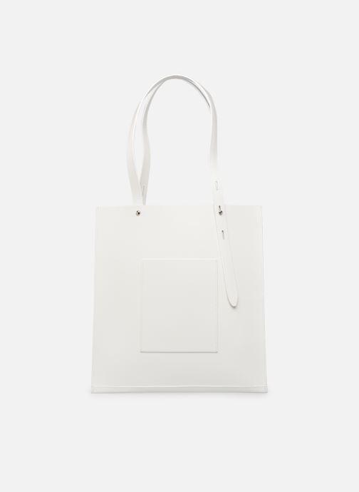 Handtassen Rebecca Minkoff Uri Tote - Flat Pocket Tote Nappa Wit voorkant