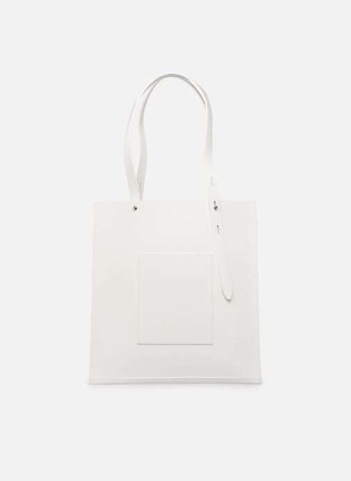Handbags Rebecca Minkoff Uri Tote - Flat Pocket Tote Nappa White front view