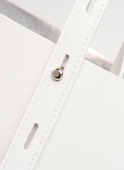 Bolsos de mano Rebecca Minkoff Uri Tote - Flat Pocket Tote Nappa Blanco vista lateral izquierda