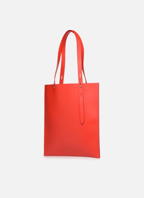 Bolsos de mano Rebecca Minkoff Uri Tote - Flat Pocket Tote Nappa Rojo vista del modelo