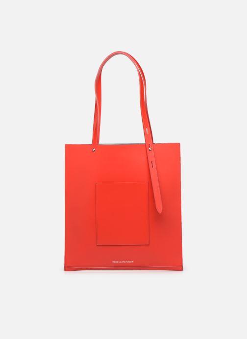 Bolsos de mano Rebecca Minkoff Uri Tote - Flat Pocket Tote Nappa Rojo vista de frente