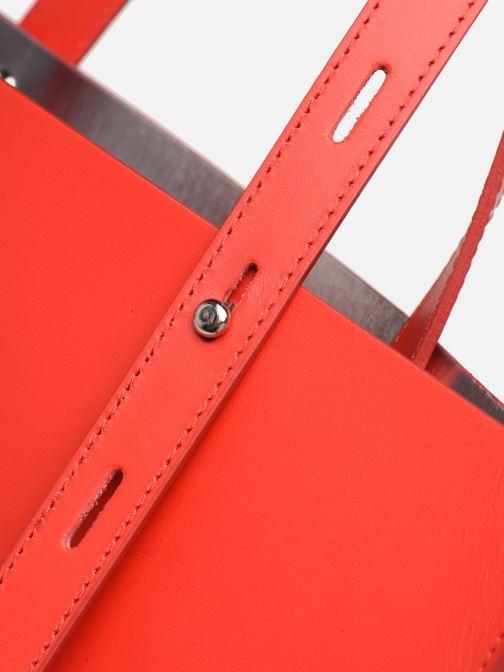Bolsos de mano Rebecca Minkoff Uri Tote - Flat Pocket Tote Nappa Rojo vista lateral izquierda