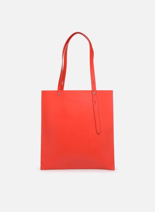Bolsos de mano Rebecca Minkoff Uri Tote - Flat Pocket Tote Nappa Rojo vista de detalle / par