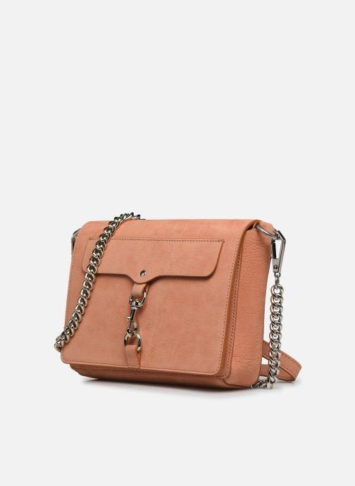 Clutch bags Rebecca Minkoff Lg Mab Flap Crossbody Beige model view