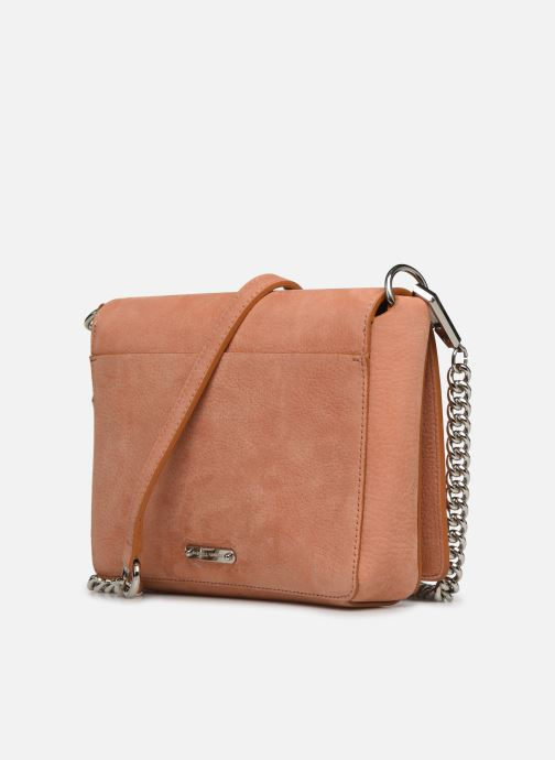 Clutch bags Rebecca Minkoff Lg Mab Flap Crossbody Beige view from the right