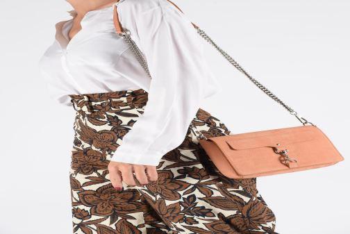 Clutch bags Rebecca Minkoff Lg Mab Flap Crossbody Beige view from underneath / model view