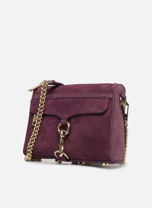 Sacs pochettes Rebecca Minkoff Mini Mac Nubuck Violet vue portées chaussures