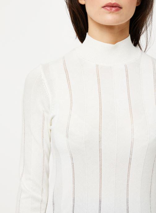 Vêtements Noisy May Nmjack Knit Blanc vue face
