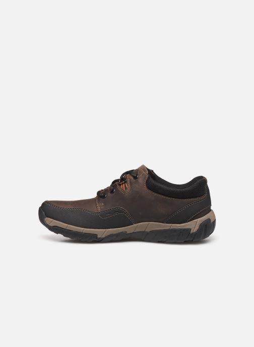 Sneakers Clarks WalbeckEdge II Bruin voorkant
