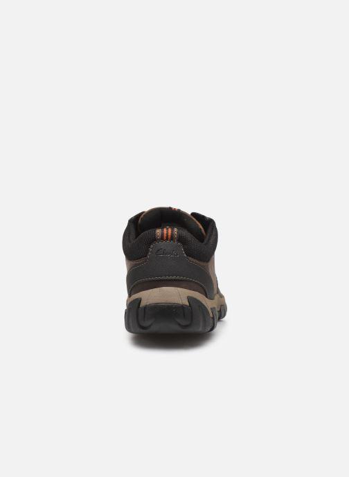 Sneakers Clarks WalbeckEdge II Bruin rechts