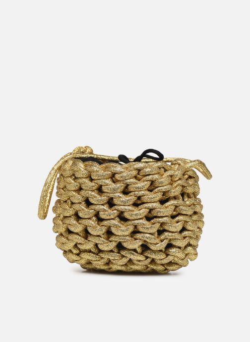 Sacs à main Alienina ANNE BUCKET BAG Or et bronze vue portées chaussures