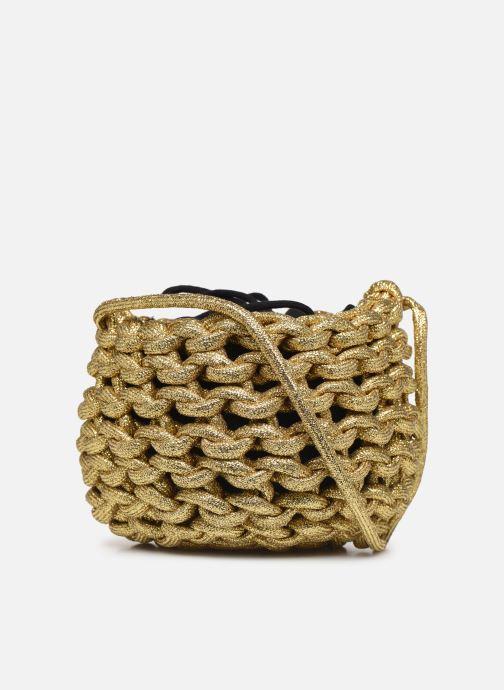 Sacs à main Alienina ANNE BUCKET BAG Or et bronze vue face