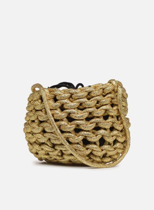 Sacs à main Alienina ANNE BUCKET BAG Or et bronze vue droite
