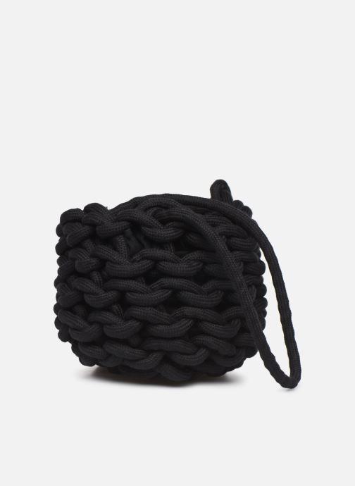 Sacs à main Alienina JULIA BUCKET BAG Noir vue portées chaussures
