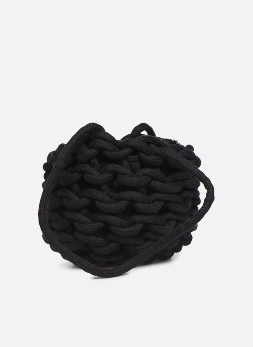 Sacs à main Alienina JULIA BUCKET BAG Noir vue face
