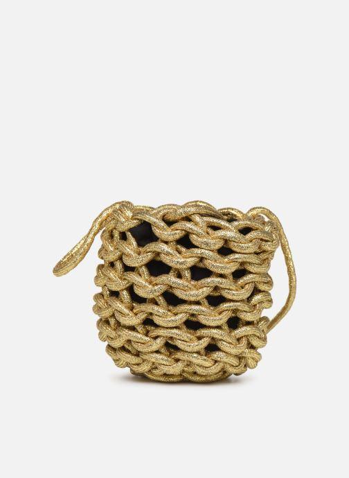 Sacs à main Alienina JULIA BUCKET BAG Or et bronze vue portées chaussures