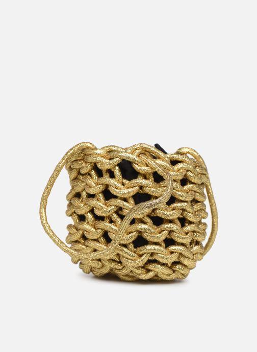 Sacs à main Alienina JULIA BUCKET BAG Or et bronze vue droite