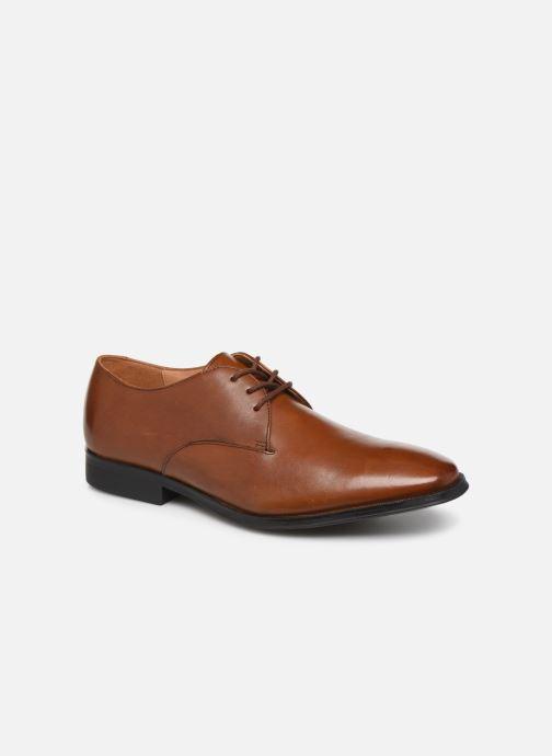 Snøresko Clarks Gilman Walk Brun detaljeret billede af skoene