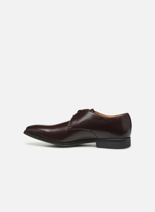 Lace-up shoes Clarks Gilman Walk Burgundy front view