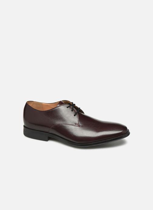 Chaussures à lacets Clarks Gilman Walk Bordeaux vue détail/paire
