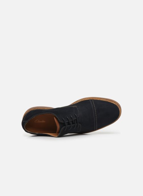 Chaussures à lacets Clarks Atticus Cap Bleu vue gauche