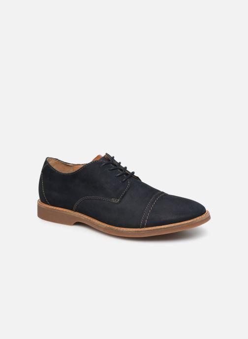 Chaussures à lacets Clarks Atticus Cap Bleu vue détail/paire
